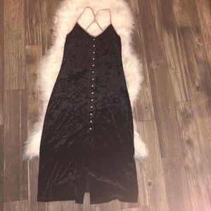 Juicy Couture Velvet Black Pink Dress Sm